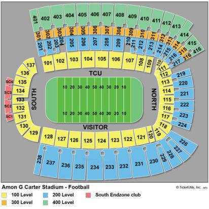 amon carter stadium seating chart