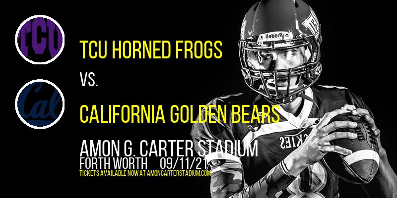 TCU Horned Frogs vs. California Golden Bears at Amon G. Carter Stadium